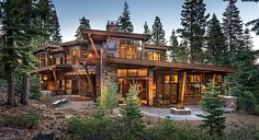 Lake Tahoe contemporary log home