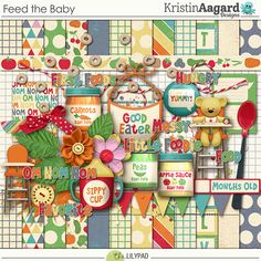 Feed the Baby - Digital Scrapbooking Kit by Kristin Aagard Designs...