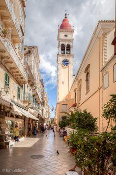 Spyridon, Old Town Corfu, Greece Beautiful Islands, Beautiful World, Beautiful Places, Macedonia, Albania, Foto Hdr, Places Around The World, Around The Worlds, Places To Travel