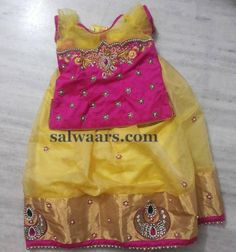 Stone Work Light Yellow Lehenga - Indian Dresses