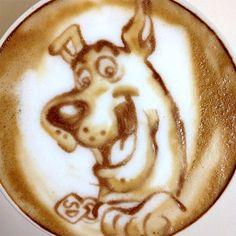 .·:*¨¨*:·. Coffee ♥ Art .·:*¨¨*: Scooby latte