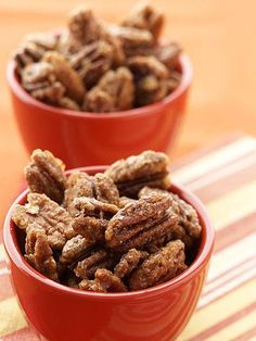 Pecans are a great source of vitamin E and magnesium, which supports muscle strength. Plus, they're packed with protein, fiber, and the same good fats as olive oil.