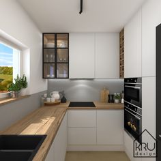 Cosy Kitchen, Kitchen Room Design, Modern Kitchen Design, Home Decor Kitchen, Interior Design Kitchen, New Kitchen, Home Kitchens, Small Modern Kitchens, Modern Kitchen Interiors