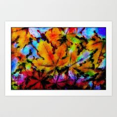 Colors of Autumn  Art Print by InDepth Designs - $17.00
