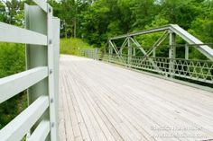 #Indiana #Bridges: Circle Trail Bridge in Covington, Indiana -- FANTASTIC way to repurpose a bridge into a usable object instead of destroying it! Kudos to Covington for their foresight!
