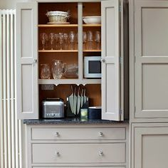 BIFOLD DOORS   a perfect gray: gray kitchen cabinets