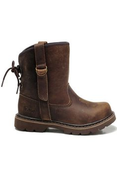 Retro Style Brown Ankle Boots