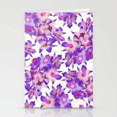 Vintage Floral Violet Stationery Cards by amayab Vintage Floral, Orchids, Mixed Media, Stationery, Lettering, Artist Art, Purple, Artwork, Pattern