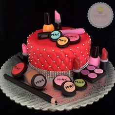 Makeup Fondant Cake Toppers Everything You by KedulceSugarDesigns