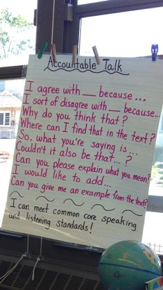 Accountable talk anchor chart…picture only                                                                                                                                                      More