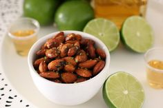 Tequila-Lime Roasted Almonds Add some zip to nuts with a splash of tequila and a sprinkle of lime zest. These almonds make a flavorful pre-dinner treat during cocktail hour, or toss some in your bag...