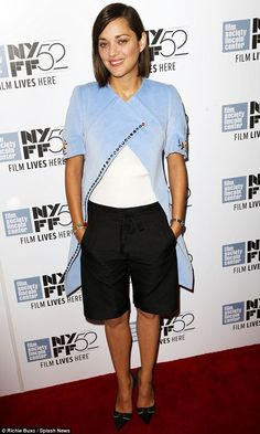 French fancy: Marion Cotillard was a delight at a screening of her filmTwo Days One Night at New York Film Festival on Sunday