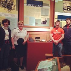 Dr. Rose Mary Sheldon (VMI History Dept) was showing the William Friedman Collection to visitors of the George C. Marshall Museum.