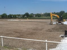 30 July 2014 - The foundations go in, as the next step in the process.