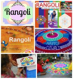 "Multicultural Art ""Rangoli:"" Floor Folk Art from India. Books, crafts, video to learn about rangoli."