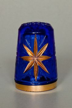 RP: Blue Glass Gold Star Thimble - joniks.gallery.ru