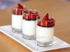 Vanilla Bean Panna Cotta with Balsamic Strawberries