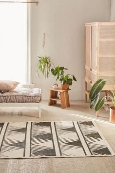 Urban Outfitters Makenna Indoor/Outdoor Woven Rug - Grey 5X7