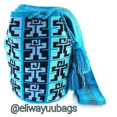 Wayuu Mochila bag blues