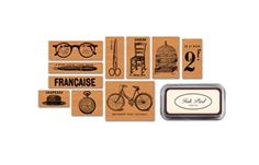 Cavallini & Co. | Rubber Stamp Set | Curiosities