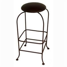"24"" Backless Swivel Metal Barstool Fabric: Shells, Metal Finish: Sand by Grace Collection. $132.99. SW124+ -F-52 (SD) Fabric: Shells, Metal Finish: Sand Features: -Ships fully assembled.-Artistically crafted in wrought iron. Options: -Available in 12 designer metal finishes. Color/Finish: -Painted according to your choice of metal finish. Dimensions: -Dimensions: 16'' W x 16'' D x 24'' H."
