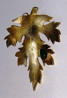 damla taşlı yaprak kolye ucu-İsmek 2012 çalışma