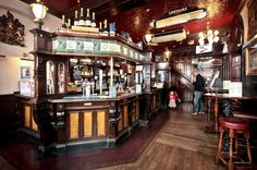 Victorian Store Interiors | The fabulous Victorian interior of the Golden Lion pub in St James's ...