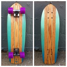 This is a one-of-a-kind, handmade, solid oak, surf-inspired cruiser.  Every skateboard is cut, shaped, finished, and painted by hand and topped with our special extra-grippy tread/poly blend..  Salemtown Board Co. exists to build the highest quality, hand-made skateboards, and to employ, train, and mentor urban youth in the Salemtown neighborhood located in the inner city of Nashville, TN.