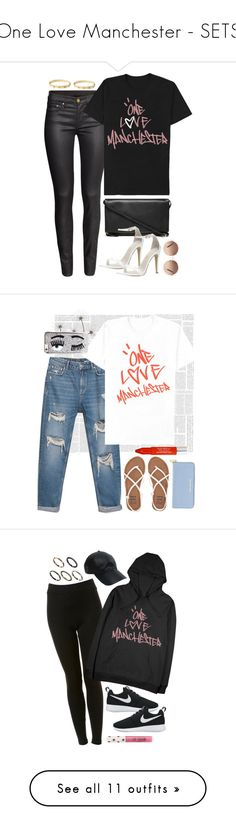 """""""One Love Manchester - SETS"""" by keisha-xo ❤ liked on Polyvore featuring H&M, Everlane, ALDO, Chloé, Cartier, ArianaGrande, manchester, OneLoveManchester, Zara and Michael Kors"""