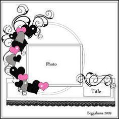 Scrapbook.com Gallery: Layout Favorites. I want to use this design for my stepson's wedding album...these were her colors and this looks wonderful. So simple but eye catching.