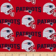 Cheer on the New England Patriots, your favorite NFL team, with this NFL cotton broadcloth fabric. Perfect for use in quilting projects, craft projects and even apparel. This is a licensed fabric and not for commercial use.