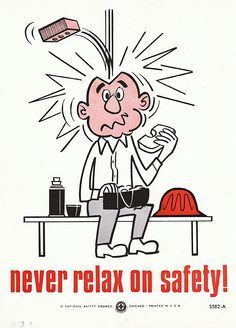 Safety Throwback!  Vintage Workplace Job Safety Poster 1960s - #safetyculture