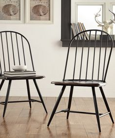 Look At This HomeBelle Black U0026 Brown Brooklyn Side Chairs   Set Of Four On #