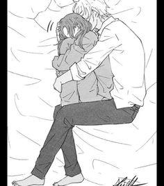 Image, - Anime and Manga World 2020 Anime Couples Cuddling, Anime Couples Sleeping, Romantic Anime Couples, Romantic Manga, Anime Couples Drawings, Anime Couples Manga, Anime Couples Hugging, Couple Anime Manga, Anime Love Couple
