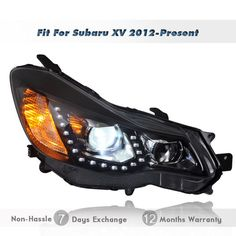 Subaru Crosstrek Aftermarket | Replacement Xenon Projector Headlights Assembly LED DRL for Subaru XV ...