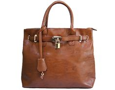 TAN LIGHTWEIGHT HOLDALL WITH LOCK AND KEY, £19.99