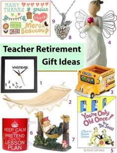 Great teacher retirement gifts waiting for you to discover! Check'em out now.