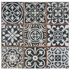 Merola Tile Faenza Nero 13 in. x 13 in. Ceramic Floor and Wall Tile (12.2 sq. ft. / case)-FPEFAEN - The Home Depot
