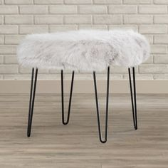 Found it at Wayfair.ca - Arevalo Faux Fur Square Stool