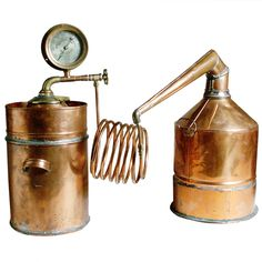 Vintage Copper Still for distilling moonshine.. Early 20th century.   Now why can' t I find one of these at the local flea market?