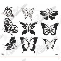 Butterfly Stencil 372x321mm Butterfly Stencil, Stencil Material, Tattoos For Women, Butterflies, Stencils, Art, Woman Tattoos, Art Background, Butterfly Template