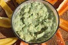Creamy Lemon Superfood Guacamole - Be sure to replace the dill in this recipe with genuine Pollen Ranch Dill Pollen!  Find it here: http://www.pollenranch.com/dill-pollen/dill-pollen-spice-1-oz-tin