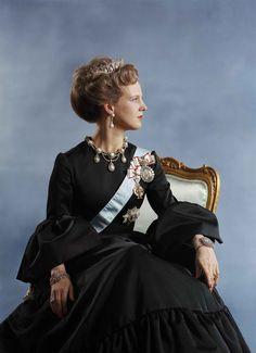Queen Margrethe II of Denmark - Coronation portrait