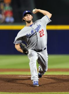 CrowdCam Hot Shot: Los Angeles Dodgers starting pitcher Clayton Kershaw throws against the Atlanta Braves during the first inning of game one of the National League divisional series playoff baseball game at Turner Field. Photo by Dale Zanine
