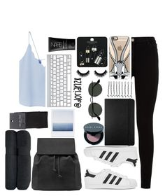 """Or is this something real"" by dorian28 ❤ liked on Polyvore featuring 7 For All Mankind, adidas Originals, MANGO, Casetify, Topshop, Bobbi Brown Cosmetics, Moleskine, BOBBY, Ray-Ban and NARS Cosmetics"