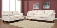 Camden Modern Beige Grey Black Mixed Linen Living Room Set