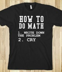 Trying not think about this when I start my math classes
