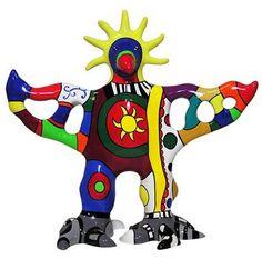 Sculpturen maken volgens Niki de Saint Phalle. Met krantenpapier, lijm, verf, stift.