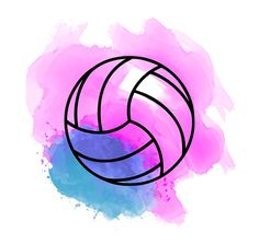 Volleyball Watercolor Sticker by José Ricardo Volleyball Team Shirts, Volleyball Memes, Volleyball Workouts, Volleyball Outfits, Coaching Volleyball, Volleyball Pictures, Volleyball Players, Volleyball Shirt Designs, Volleyball Hairstyles