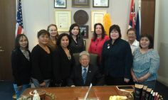 Sen. Akaka meets with the NCAI Task Force on Violence Against Native Women
